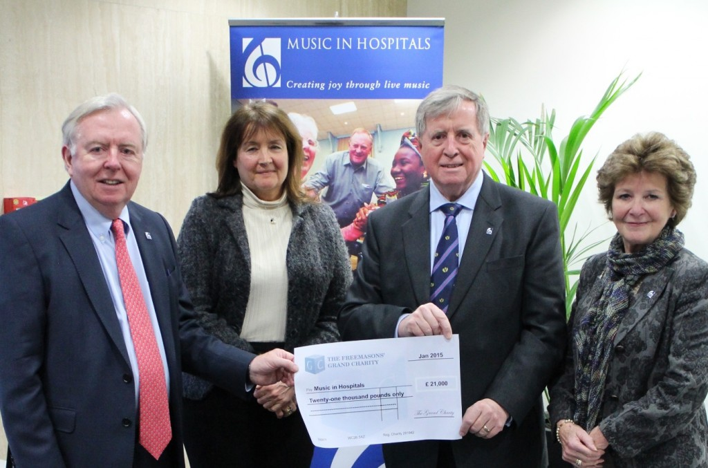 A very generous donation from The Freemasons Grand Charity
