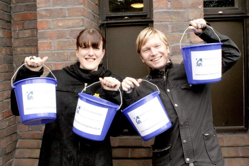 Fundraisers with collection buckets